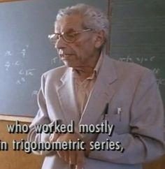 Paul Erdos tells a joke.     http://www.youtube.com/watch?v=my0L2icGooU