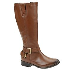 Clarks Plaza Steer Womens Tall Riding Boots Brown Leather 9: Love these boots. A little tight when I first put them on, but they're breaking in nicely. I'm short (5'2) and they stop right below my knee. The darker toe is less noticeable in person. The leather is soft, so I have a small scratch on boots already (really only noticeable to me). #SHOES Brown Riding Boots, Tall Riding Boots, Brown Leather Boots, Clarks, Kinky, Tights, Toe, Fashion, Brown Leather Ankle Boots