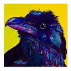 Corvus by Pat Saunders-White Painting Print on Wrapped Canvas