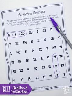 Printable Addition a