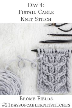 Learn how to knit the Fishtail Cable Knit Stitch in today s video tutorial grab the FREE Headband Knitting Pattern bromefields freeknittingpattern cableknitstitch freeheadband freeheadbandknittingpattern Knitting Stiches, Knitting Blogs, Easy Knitting, Knitting For Beginners, Knitting Designs, Knitting Patterns Free, Crochet Patterns, Knitting Tutorials, Knit Stitches