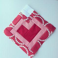 heart block - love the fabric!