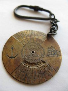 Nautical 100 Years Calendar Keychain by EricaWeinerJewelry on Etsy