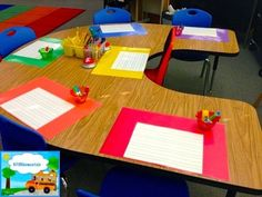 laminate construction paper and apply lined paper with dry erase contact paper. LOVE this idea