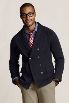 Men's+Mercerized+Cardigan+from+Lands'+End+Canvas