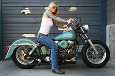 Blonde, ink, and a bike, can't get any better...