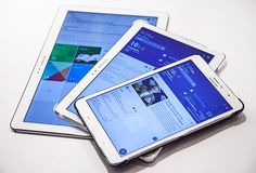 "The Samsung Galaxy Tab Pro tablets are finally here; however, the 12.2"" version is currently not available yet."