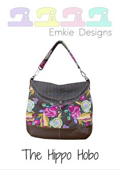 The Hippo Hobo bag pattern by Emkie Designs is for a medium sized casual shoulder bag with a large opening that resembles a hippopotamus' mouth. This hobo bag is spacious with a secret pocket…