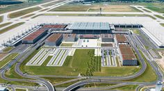Berlin Brandenburg Airport ~ gmp Architekten (2018?) ~ Originally scheduled to open in 2010, the terminal is essentially complete, however the fire protection and alarm systems were not built in accordance with the construction permit, meaning that a large amount of reconstruction and refitting is required to bring the structure up to code.