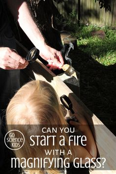 Solar Science: Can you start a fire with a magnifying glass? – Go Science Kids Cool Science Experiments, Stem Science, Preschool Science, Science For Kids, Earth Science, Science Activities, Science Projects, Kids Wedding Activities, Thanksgiving Activities For Kids