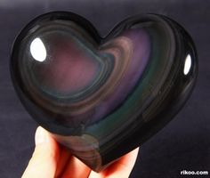 Rainbow Obsidian Carved Heart : good grounding stone, good for chakra. Brings live and light into life, helps to let go of darkness and unloving thoughts. Cool Rocks, Beautiful Rocks, Minerals And Gemstones, Rocks And Minerals, Spiritus, Mineral Stone, Rocks And Gems, Healing Stones, Stones And Crystals