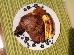 Roasted beef and plantain