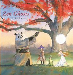 """The wonderful illustrations of Jon J. Muth in the book """"Zen Ghosts."""""""