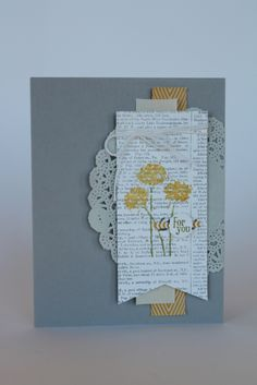 Stampin' Up! card using the Best of Sale-A-Bration stamp set and doilies.