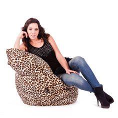 Puf Pera Super M Leopardo