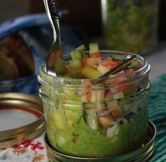 Mason Jar Turkey Chickpea Salad