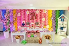 Balloon Wall, Balloons, Balloon Crafts, String Crafts, Wall Backdrops, Candyland, Party Themes, Themed Parties, Party Ideas
