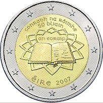 moneda Irlanda 2 euros 2007 Tratado de Roma, Tienda Numismatica y Filatelia Lopez, compra venta de monedas oro y plata, sellos españa, accesorios Leuchtturm