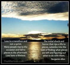 Loss is a marathon, not a sprint