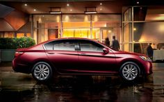Honda Accord. The refined design of the 2015 Accord Sedan gives it a look that is both sporty and comfortable.