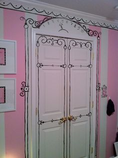 Love this idea for her closet! Very Parisian cute as well as it reminds me of Eloise! :)