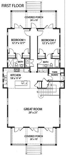 Coastal Home Plans - Goldenaster Cottage