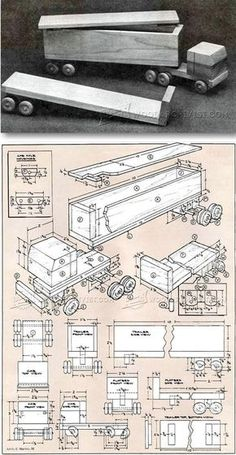 Wooden Toy Truck Plans - Wooden Toy Plans and Projects | WoodArchivist.com