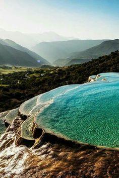 Piscinas naturais, Pumakkale, Turquia.