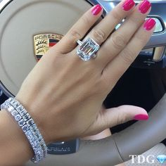 On my prayer list ! Emerald Cut Aquamarine Ring, Emerald Cut Diamonds, Diamond Cuts, Cute Jewelry, Jewelry Rings, Jewelery, Hand Jewelry, Diamond Glitter, Diamond Are A Girls Best Friend