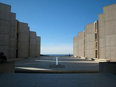 Last night, I watched a fascinating documentary about the iconoclastic architect Louis Kahn. As the title implies, My Architect: A Son's Jou. Jonas Salk, Louis Kahn, Travertine, Water Features, Exterior, Pacific Ocean, Colleges, Architecture, Building