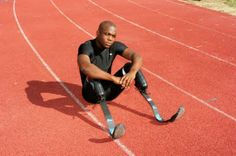"""Blake Leeper was born without legs from the knee down. He got his first set of prosthetics at 16 months old, but says he has never thought of himself as someone with a disability.  """"My parents established a mind set within me that I was no different than anyone else and that I can do anything I want to do and, if I give it my all, I'm just as good as anybody else."""" Leeper holds the world record for the 100-meter dash and is currently training for the 2012 Paralympic Games in London."""