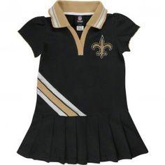 Saints Child Polo Dress With Pleats #Saints #NOLA #Cheer