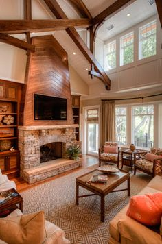 Family Room Fireplace Tv Design Ideas, Pictures, Remodel and Decor