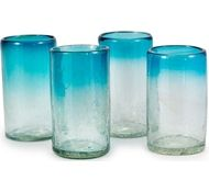 Maya Recycled Pint Glass - Set of 4 - Aquamarine
