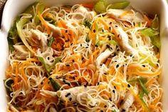 Vermicelles de riz au poulet aux allures provençale