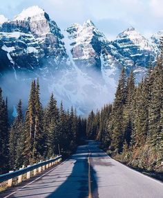 What a drive this would be! Banff National Park - Alberta, Canada Photo by: @craighowes #banffphotos #LandscapePaisajes
