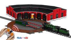 Lego Train Station, Lego City Train, Train Stations, Lego Track, Lego Plane, Lego Boards, Lego Modular, Cool Lego Creations, Lego Projects