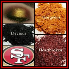 San Francisco 49ers team colors with Moodstruck Mineral pigments