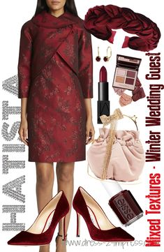 What to wear for a Winter Wedding. Spring and summer might be the most popular seasons to tie the knot, but more and more are now choosing the winter months. Winter has its own charm and romance making it a magical time for weddings. There's no setting more romantic than a blanket of snow, and dare I say mistletoe. Winter offers a much wider range of fabrics to choose from than summer, so take advantage of the Lace, Wool, Felt, Faux Fur, Velvet, Jacquard or mixed texture options available to… Christmas Wedding Outfits, Mother Of The Bride Hats, Kentucky Derby Outfit, Winter Wedding Guests, Derby Outfits, February Wedding, Velvet Fashion, Winter Fashion Outfits, Winter Months