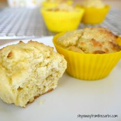 Low Carb Lemon Muffins - a healthy zesty treat!