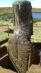 Ancient aliens 498281146249547454 - Back of a Moai displaying petroglyphs exposed by excavation. Easter Island Statue Project Source by KOLONUI Easter Island Moai, Easter Island Statues, Ancient Aliens, Ancient History, Objets Antiques, Image New, Mystery Of History, Ancient Architecture, Ancient Artifacts