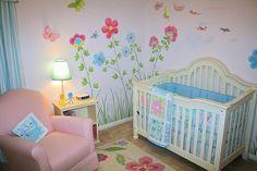 Big Flowers and Butterflies Children's Murals Houston Wendy's Walls Flowers Murals