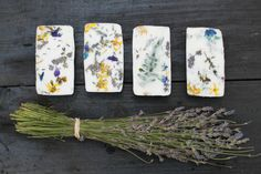 Making your own soap with lavender and wild flowers. Enjoying the Small Things