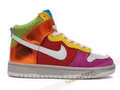 Hop Nikesss, Dance Fashion, Funky Nikes, Rainbow Shoes, Street Dance, Colorful