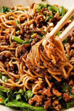 Dinner Entrees, Dinner Dishes, Pasta Dishes, Main Dishes, Dan Dan Noodles Recipe, Szechuan Beef, Dried Vegetables, Veggies, Carlsbad Cravings