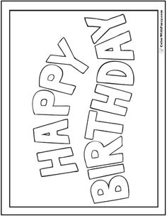 Neu Ausmalbilder Happy Birthday #Malvorlagen # ...