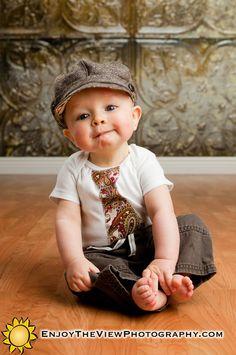 Kim Only Newsboy Cap Upcycled Baby Toddler Boy Hat / Photo Prop. $75.00, via Etsy.