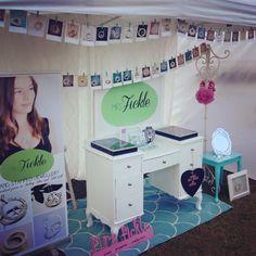 Mrs Fickle's Market Stall Display Market Stall Display, Market Stalls, Hand Stamped Jewelry, Marketing, Mirror, Home Decor, Decoration Home, Mirrors, Interior Design