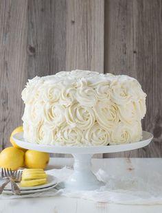 Lemon Layer Cake with Lemon Buttercream Rosettes