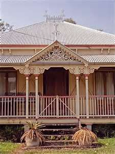 Love the castiron touches to this timber home Queenslander House, Weatherboard House, Cedar Homes, Timber House, Australian Homes, Dream Houses, Set Design, Old Houses, My Dream Home